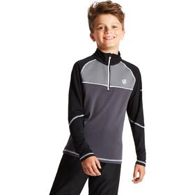 Dare 2b Formate Core Camiseta de Manga Larga Stretch Niños, gris/negro